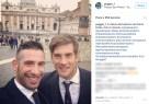 Cristian Puggioni e Alberto Brignoli a San Pietro per l'udienza dal Papa