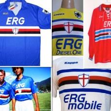 La Erg è lo storico sponsor della Sampdoria dal 1988 al 1995 e poi dal 2002 al 2011.