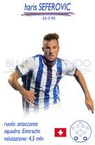 Haris Seferovic - La punta svizzera, ex di Fiorentina, Lecce e Novara, è in scadenza di contratto con l'Eintracht e può arrivare per una cifra intorno ai 3 mln di euro.