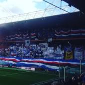 La gradinata sud durante Sampdoria - Cagliari