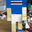 Un calciatore della Samp costruito con i Lego!