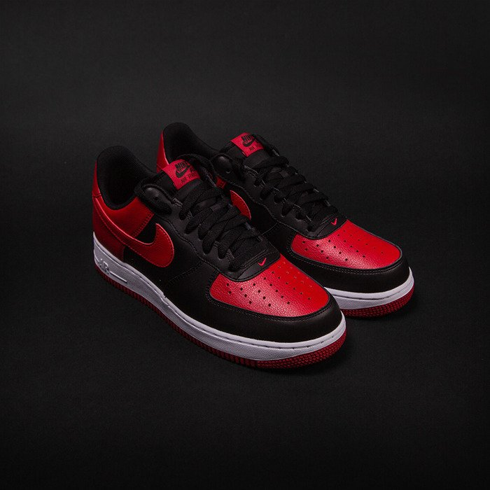 Nike Air Force 1 Low Black Gym Red White 820266 009