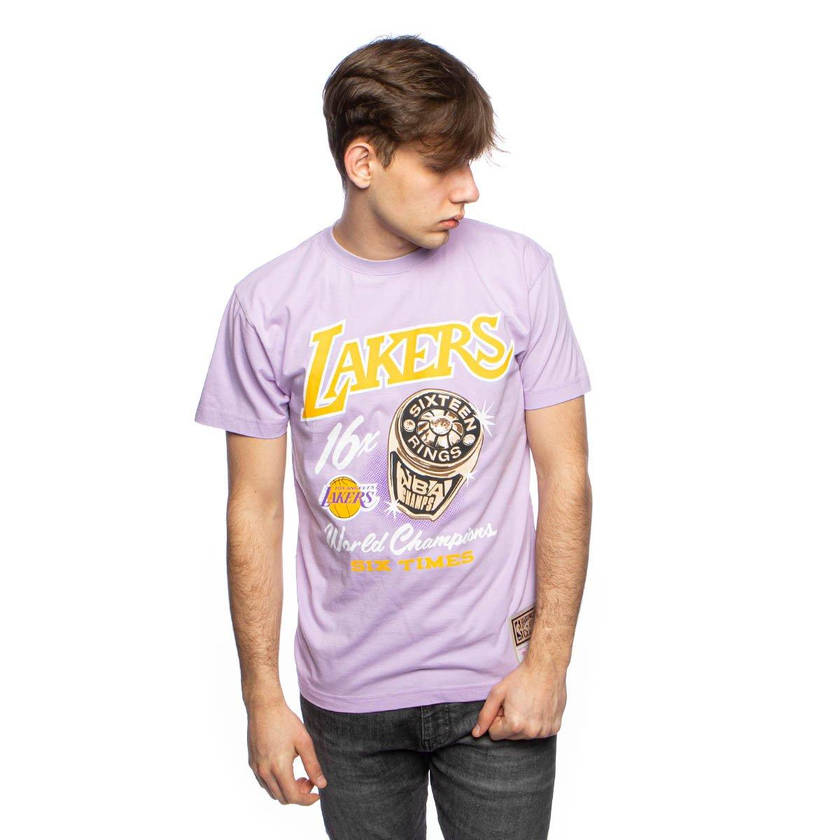 Purple Los Angeles Lakers T Shirt - T Shirt Mitchell Ness Los Angeles Lakers Purple Pastel Rings Tee Bludshop Com