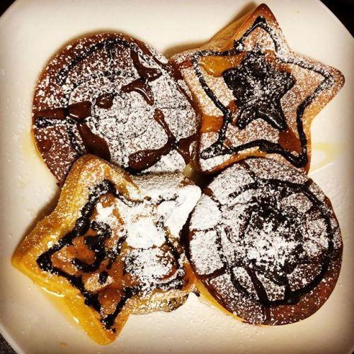 【Instagram】パンプキンのパンケーキ。このままでも悪くはないけど、改善の余地ありかなぁ。。とりあえず、後でレシピを纏めよう。