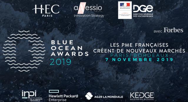 6ème édition des Blue Ocean Awards en simultané à Paris et Bordeaux le 7 novembre 2019, dédiée à l'Innovation créatrice de valeur pour la Ville de demain