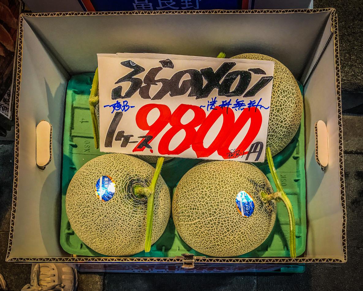 a very expensive melon