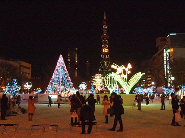 Sapporo in winter time is so beautiful.