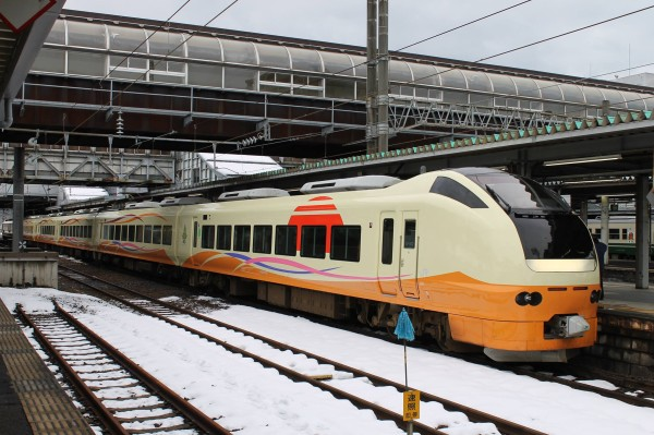 E653 series was transferred from Joban line's limited express Hitachi. And it was fully renovated and it looks a brand new fleet. (C) James Chuang