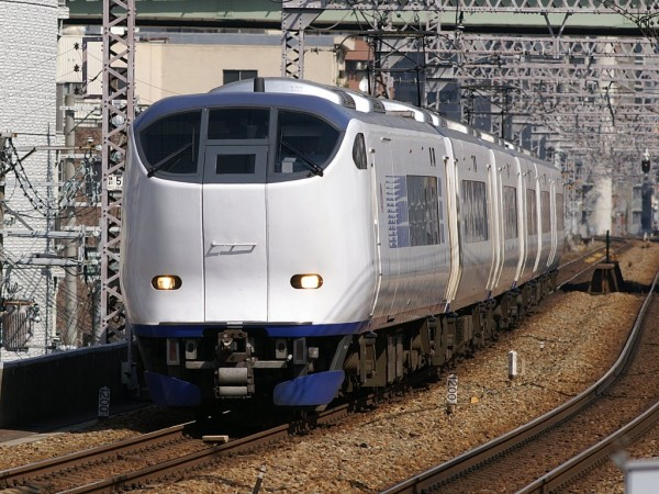 JR Limited Express Haruka is one of the popular way from KIX to get Osaka.