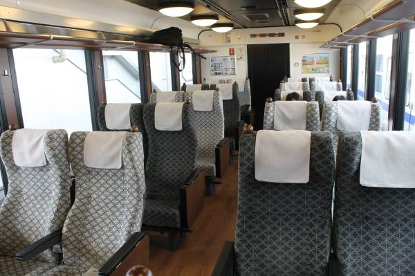 The seat has same quality as common limited express trains.