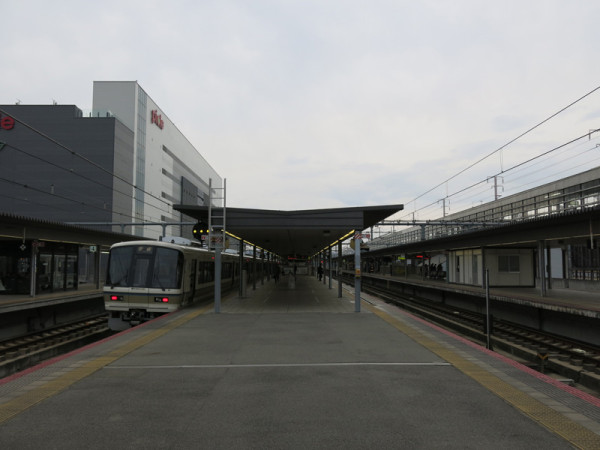 At platform of track #5 and #6.