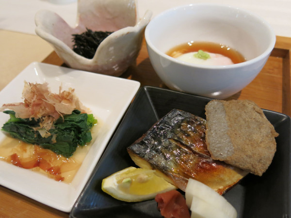 Japanese style breakfast has Jakoten. It was made from small fishes that were blended into a paste and then fried. It is Ehime local favorite.