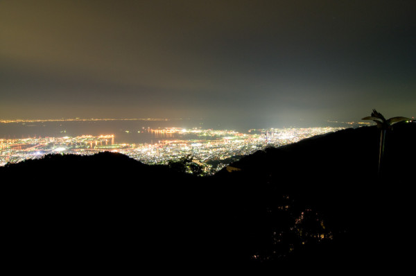 Night view from the top of Mt. Rokko is one of the best in Japan.