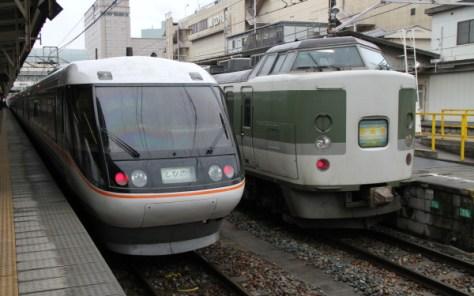 Limited Express Shinano connects Nagoya and Matsumoto, Nagano.