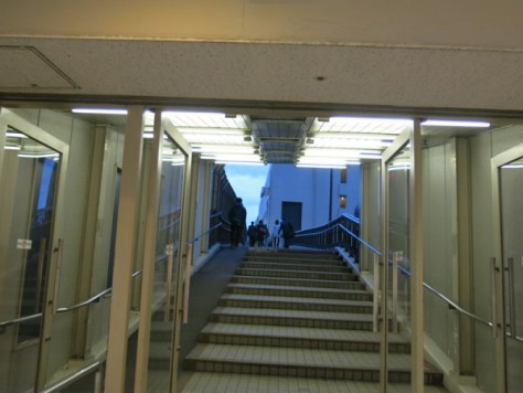 Walkway to Port Liner Sannomiya station