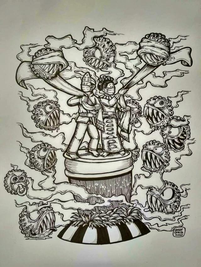 Gag Cartoon Cara Seniman Gorontalo Merespons Isu Covid 19