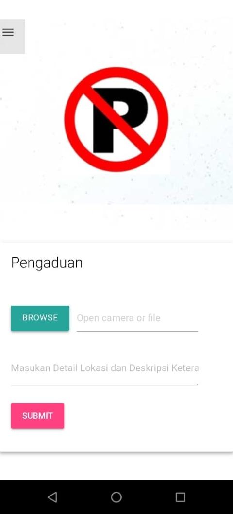 Aplikasi Pengaduan Parkir Liar, (NOTCOV)
