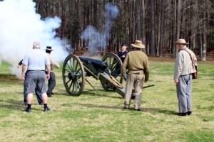 The 12-pound Napoleon Firing