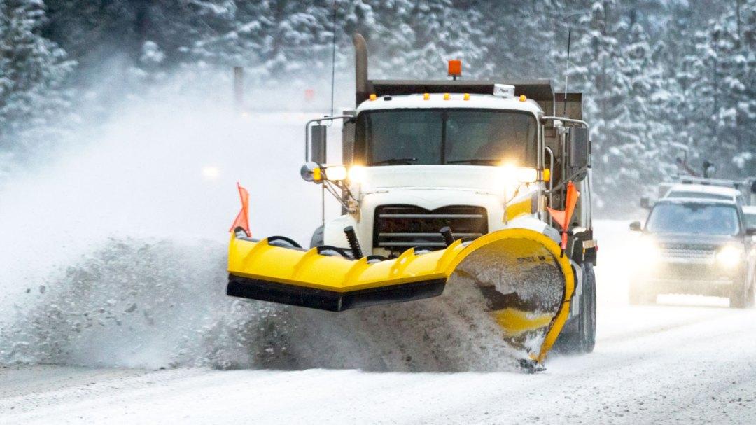 Winter operations plow