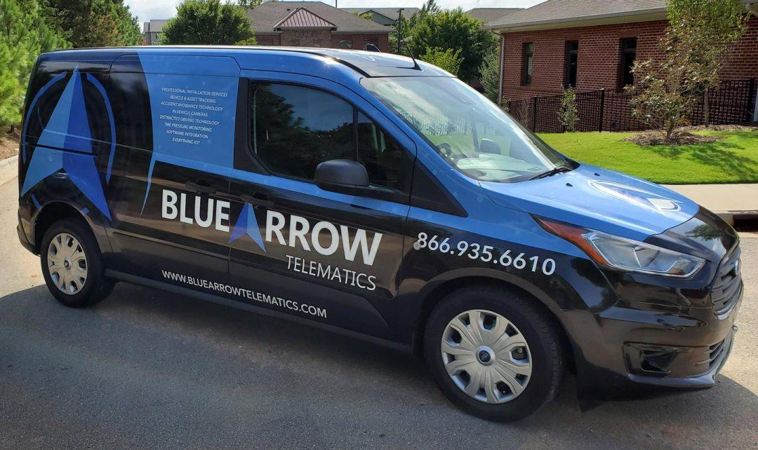 Bluearrow company vehicle