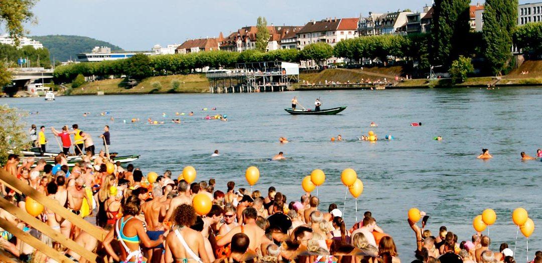 37th Rhine Swim Day in Basel Switzerland