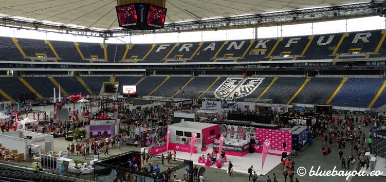 Der Arena-Innenraum am Morgen des World Fitness Day 2017.