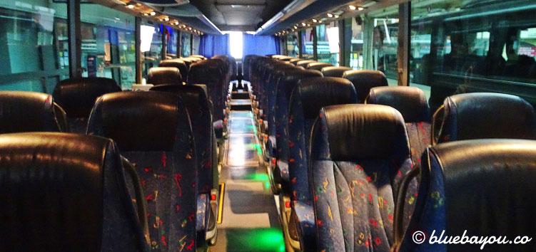 Dieser Bus bringt mich rund 120 km von Gijón nach San Vicente de la Barquera.