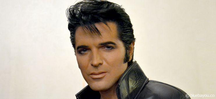 """Dean Z kurz vor seinem Auftritt als Elvis bei """"Europe's Tribute to Elvis"""" in Blackpool, England."""