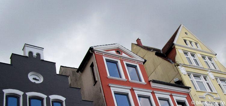 Häuserfront in Flensburg.