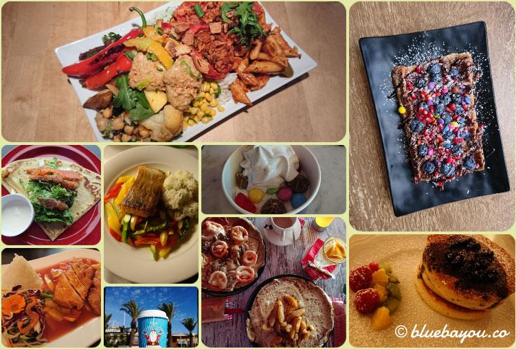 Fotoparade Collage Essen 1: Lecker war's, das zweite Reisehalbjahr.
