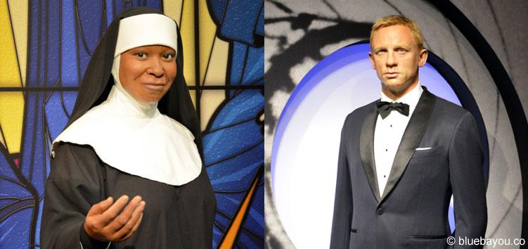 Whoopie Goldberg und Daniel Craig bei Madame Tussauds in London.