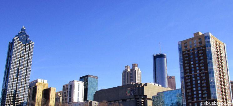 Downtown Atlanta bei traumhaftem Wetter.