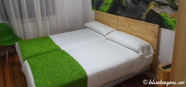 Mein Hotelzimmer in Bilbao am Ende meines Jakobswegs.