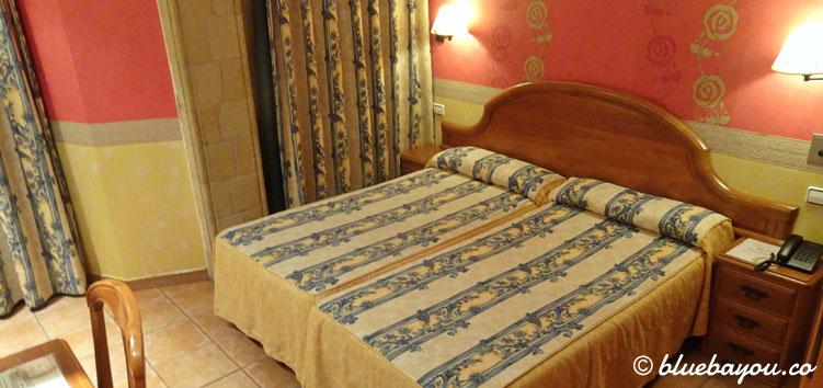 Mein Hotelzimmer in Treto, Spanien.