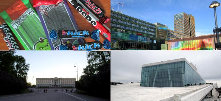 Impressionen aus Oslo: Lakritz, Bahnhofsplatz, Königliches Schloss und Oper