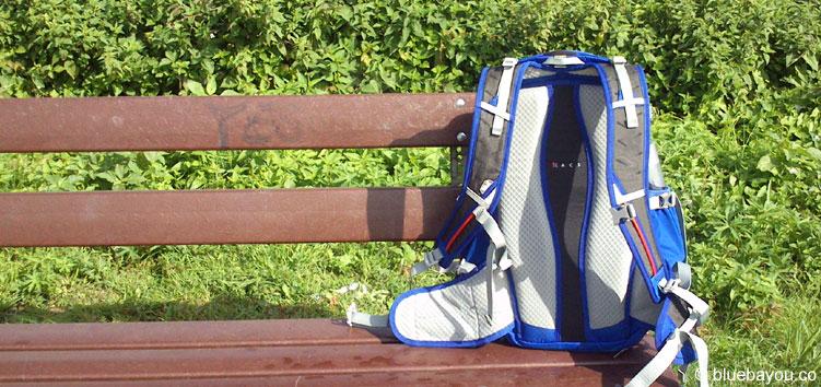 Mein Rucksack, der mich die 55 Kilometer auf dem Weg von Wiesbaden nach St. Goarshausen begleitete.