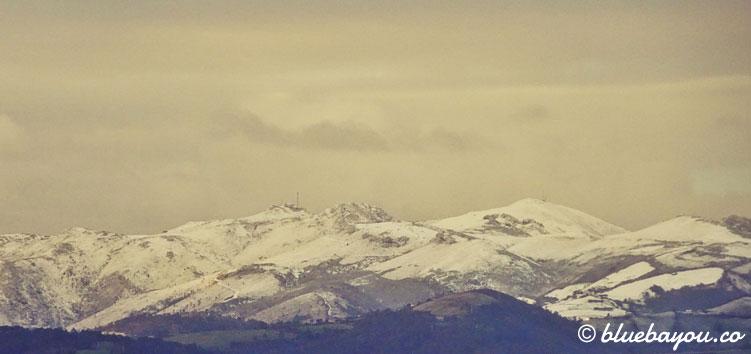 Schnee in Spanien: ich bin dankbar, dass das Wetter auf meinem Weg nicht ganz so undankbar ist.