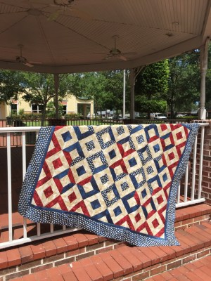 Sparklers on Liberty Square Quilt in Gazebo 3