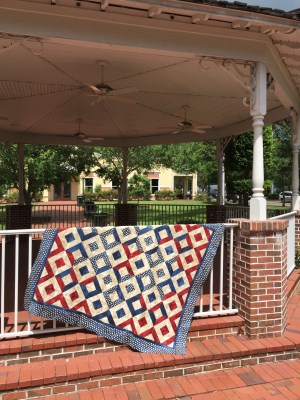 Sparklers on Liberty Square Quilt in Gazebo 2
