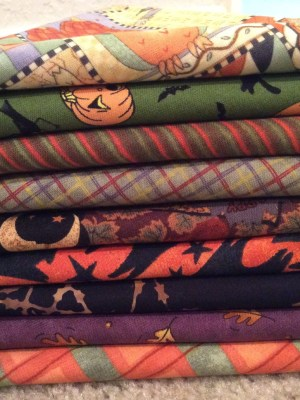 9 Fall Fat Quarters stacked