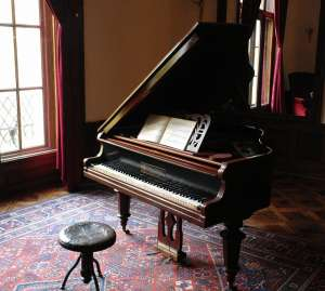 Piano in the room.