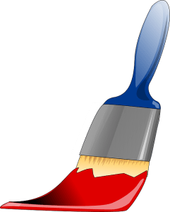 Paintbrush for covering the walls. This can help you increase your home value.