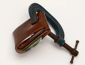 squeezed wallet