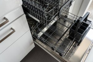 A clean dishwasher