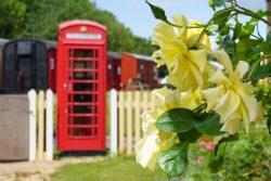 Phone box outside Kingscote Station
