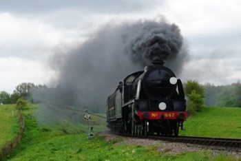SR Maunsell S15-class No.847 At Tremains Foot Crossing