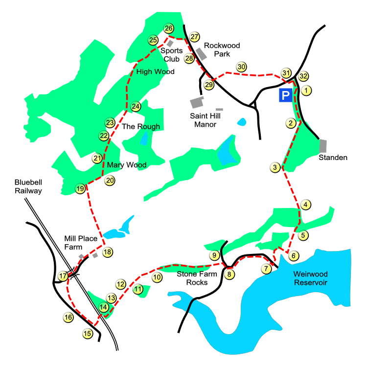 Standen route map