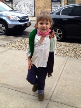Fashionista (wearing the scarf I got her from my trip to El Salvador!)