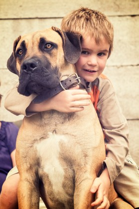 Asher and their dog Bud.