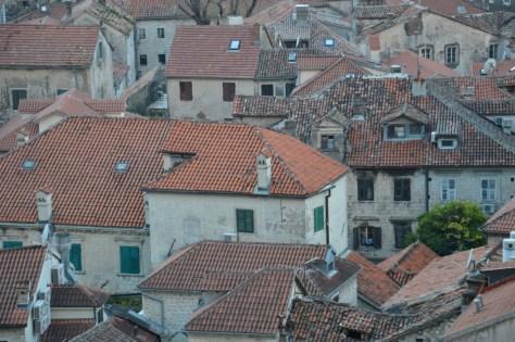 roofs of Kotor (Montenegro)